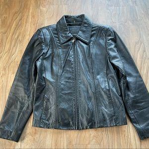 Avanti New York Black Genuine Leather Vintage Jacket
